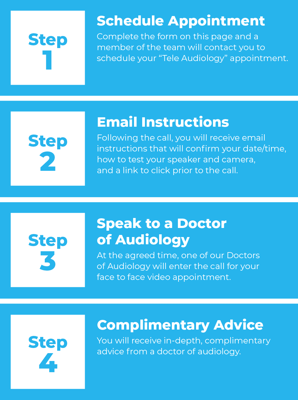 4 steps to virtual appointments