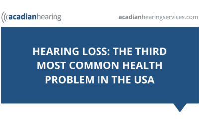 Hearing Loss: the Third Most Common Health Problem in the USA