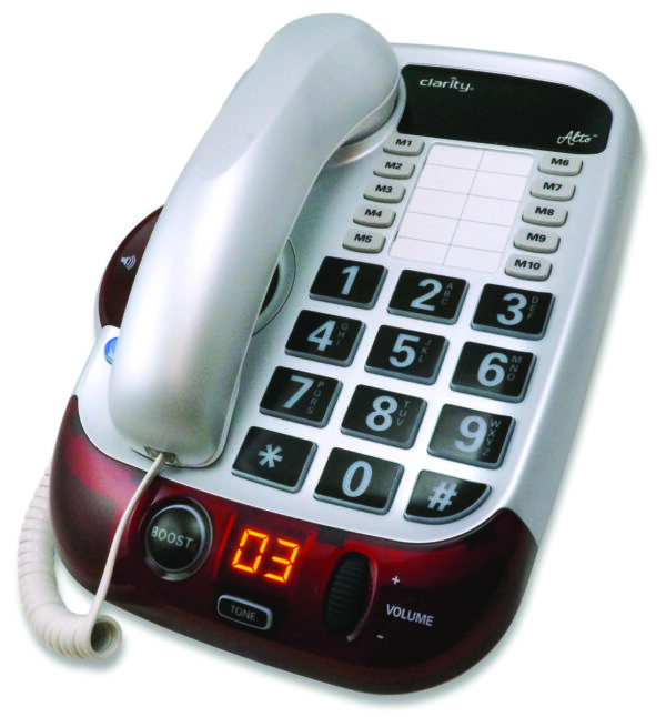 Clarity Alto Digital Corded Phone from North Houston Hearing Solutions
