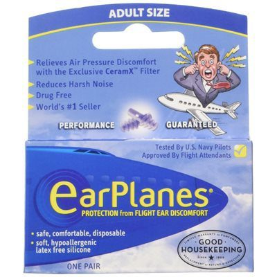 Ear Planes - Adult (pair) from North Houston Hearing Solutions