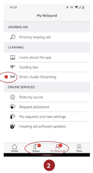 streaming hearing aid calls with android