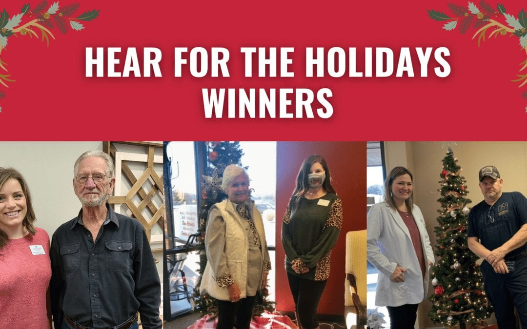 And The Three Lucky Winners of Our 'Hear for the Holidays' Competition Are…