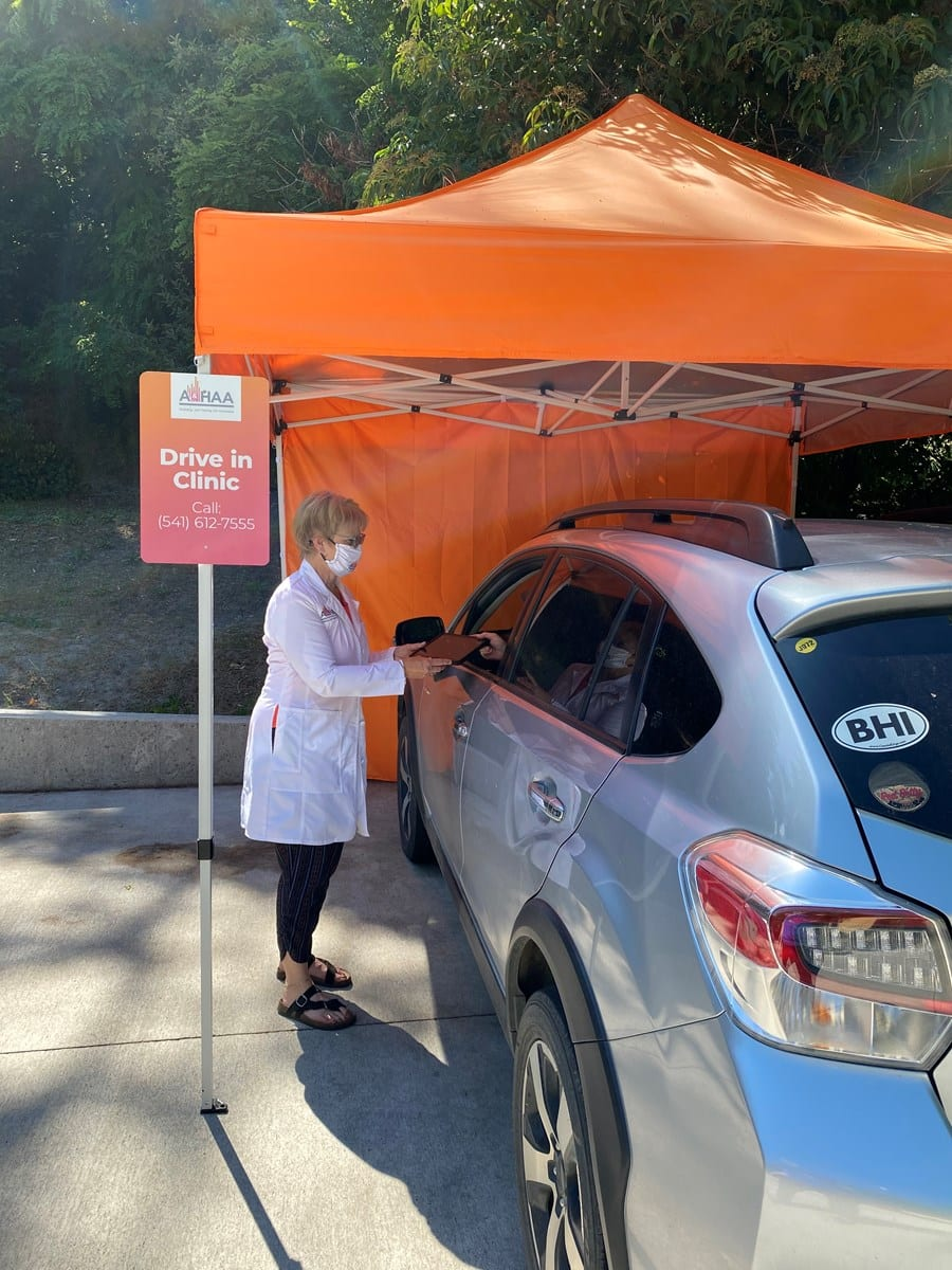 Drive in clinic - curbside appointments