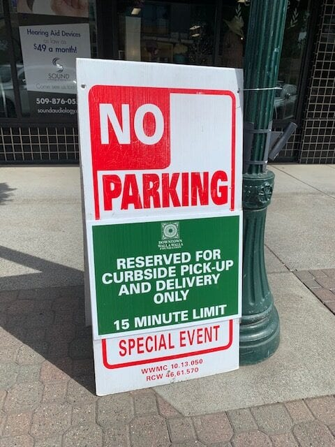 reserved curbside parking spot