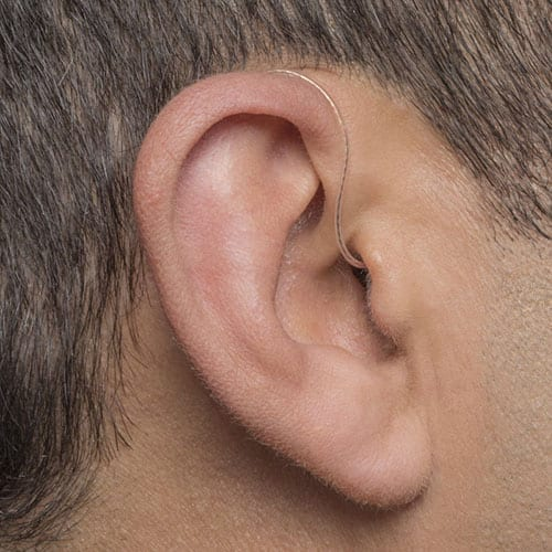 Receiver-in-the-canal hearing aid at Berkeley Hearing Center