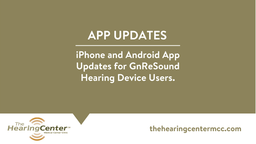 iPhone & Android App Updates for GNReSound Hearing Device Users