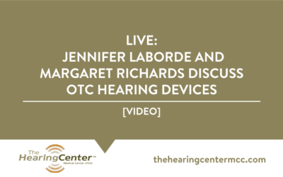 LIVE: Jennifer Laborde and Margaret Richards Discuss OTC Hearing Devices
