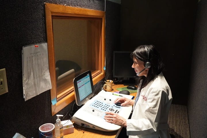 Sound proof testing booth