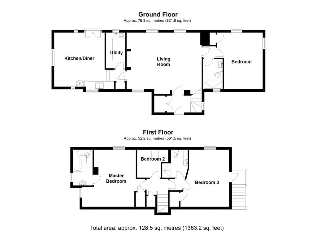 Floor Plan for Ty Cerrig - Copy