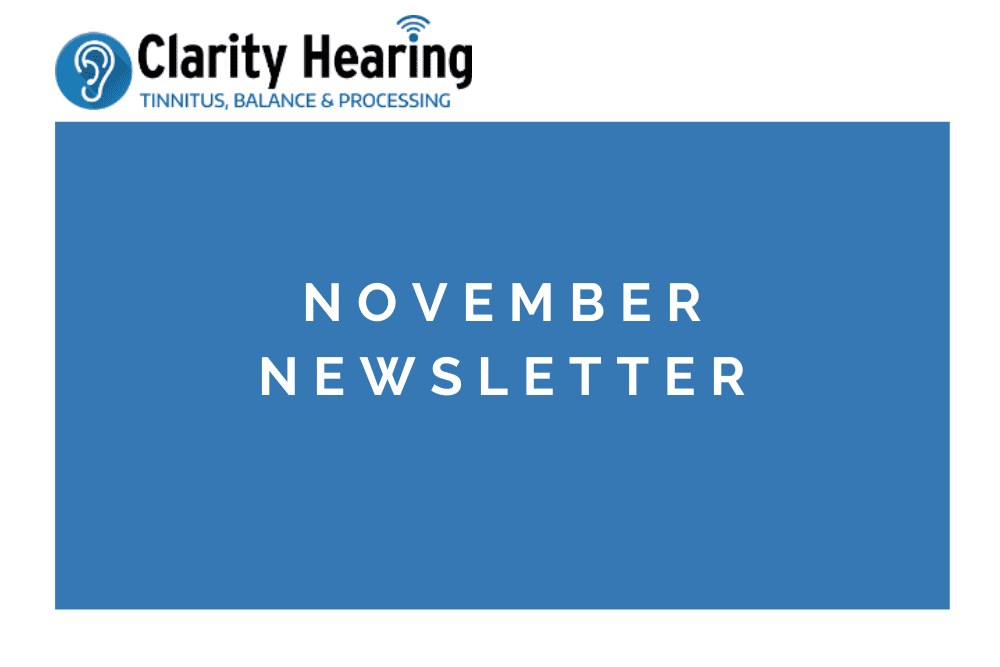 So Much To Be Thankful For!   November Newsletter